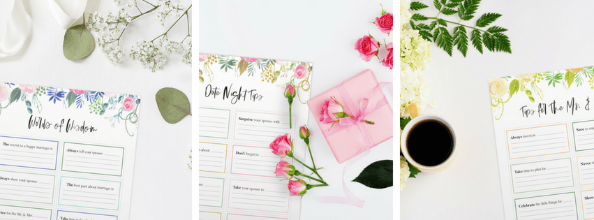 Newlywed Tips Printables