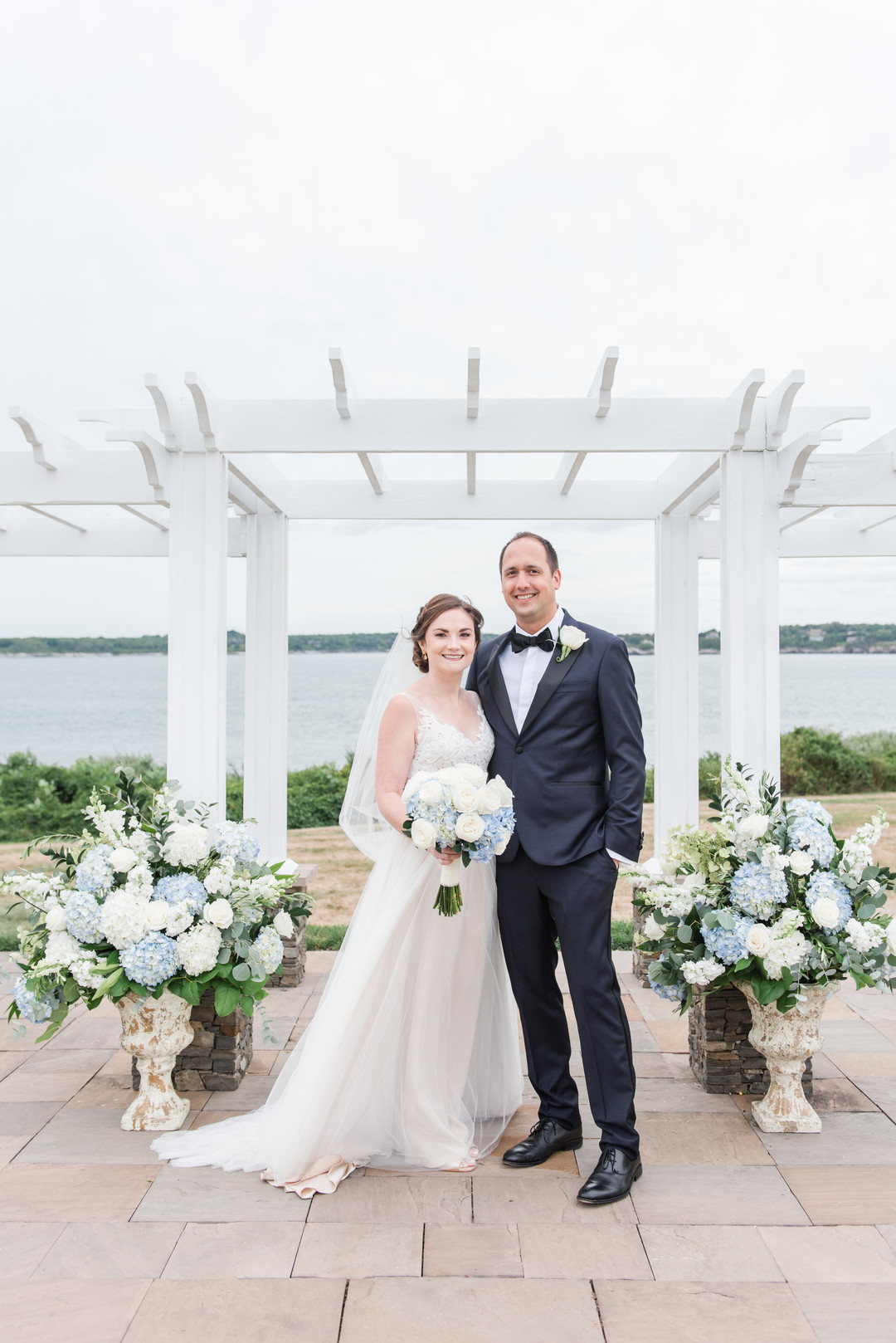Ashley and Nicolas's Hydrangea Inspired Newport Wedding