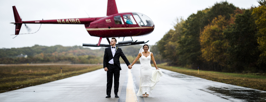 Chic Modern Airplane Hanger Wedding