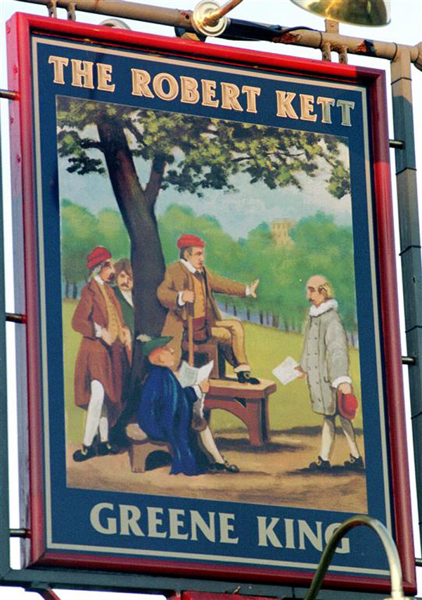 Kett rallying the rebels on pub sign