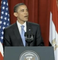 President Obama speaking in Cairo