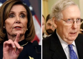 pelosi-does-impression-of-'grim-reaper'-mitch-mcconnell-just-as-impeachment-trial-kicks-off
