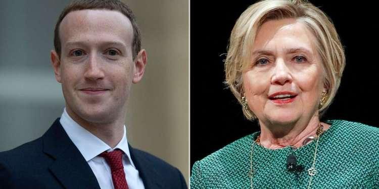 Clinton, Clinton says Zuckerberg 'authoritarian' on misinformation, 'intends to reelect Trump'