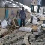 उपार्जन केंद्र की दीवार गिरी, 4 मजदूर दबे, दो की मौत