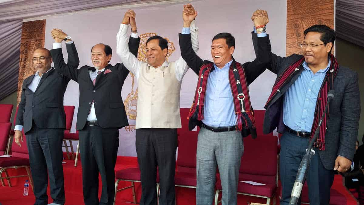 Neiphiu Rio sworn in as Nagaland CM, takes oath outside Raj Bhavan