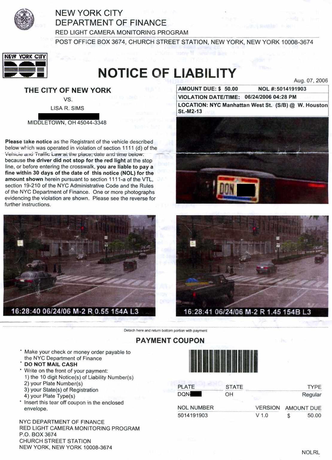 Red Light Violation