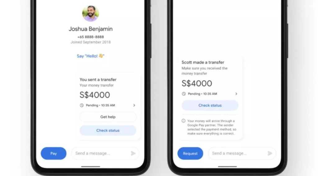 Google Pay launches remittance functionality through which US users will be able to send money to users in India and Singapore