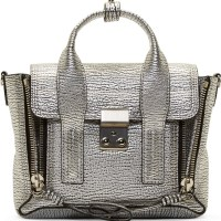 Swanky Steals: 3.1 Phillip Lim Silver Grained Leather Pashli Mini Satchel