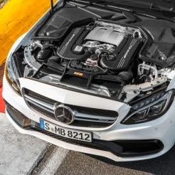 2017 Mercedes-AMG C63 Coupe Under the Hood