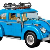 Blue VW Beetle Lego car set 10252 built