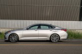 2017 Genesis G80 Overview luxury car left side profile view