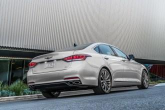 2017 Genesis G80 Overview luxury car silver driving braking