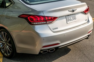 2017 Genesis G80 Overview luxury car trunk bumper