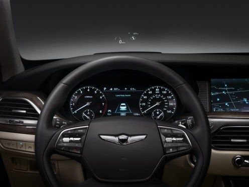 2017 Genesis G90 model overview interior dashboard controls