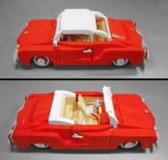 Volkswagen VW Karmann Ghia LEGO set classic car model Vibor Cavor bricks convertible top