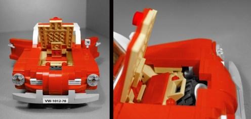 Volkswagen VW Karmann Ghia LEGO set classic car model Vibor Cavor trunk