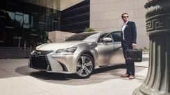 2018 Lexus GS 350 shown in atomic silver 2