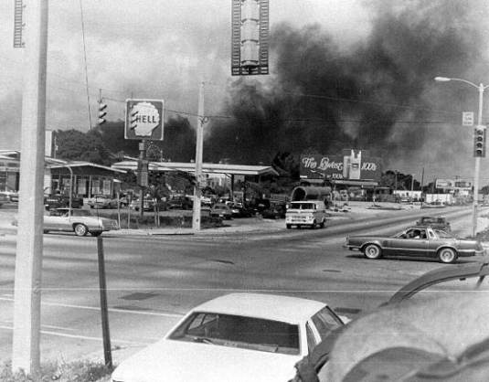 A store burning in Liberty City. (Credit: State Archives of Florida)