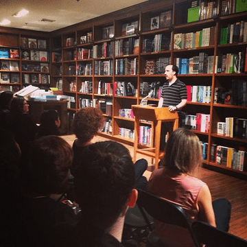 Alex Segura speaking at Books & Books