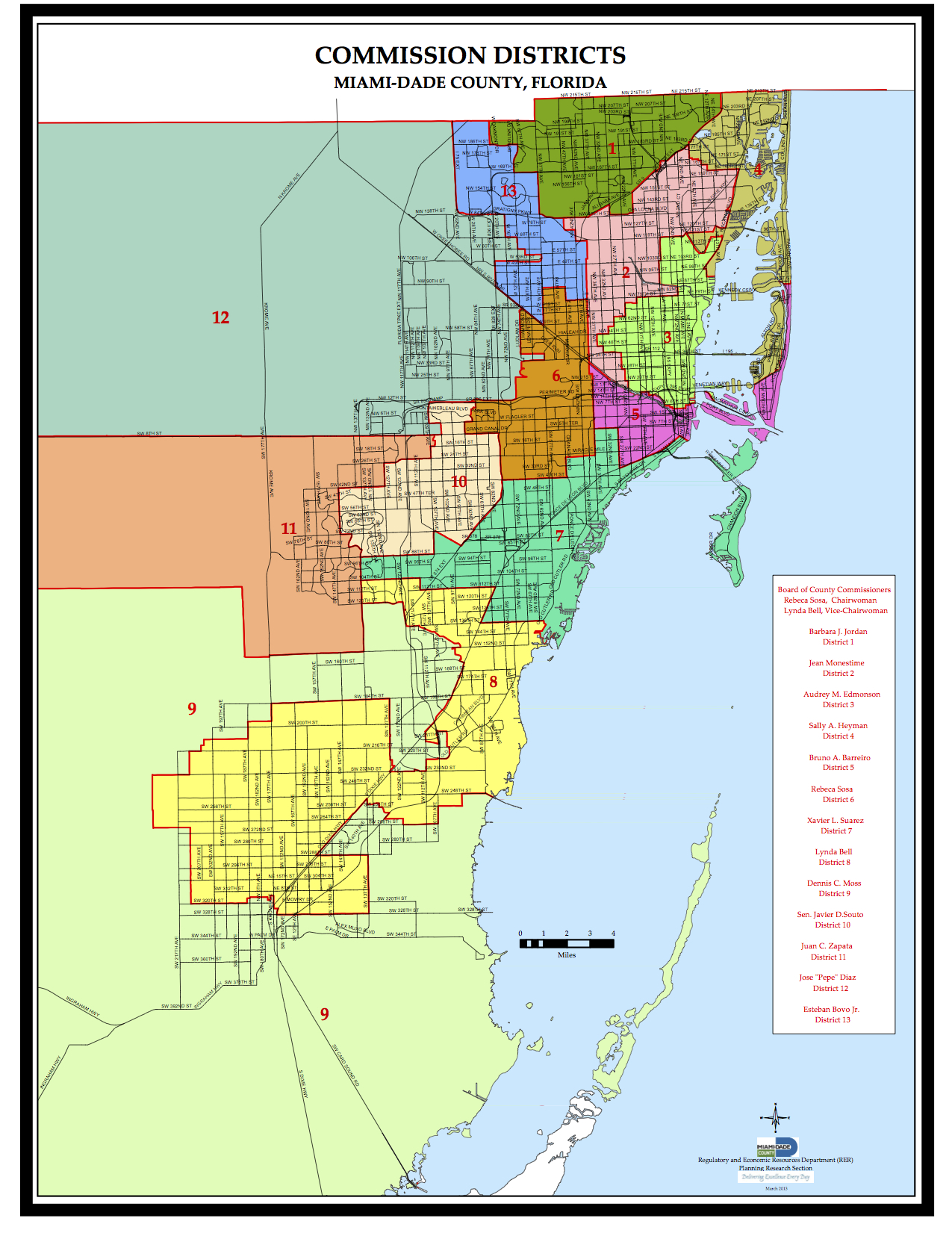 The county's official district map still shows Lynda Bell as commissioner of District 8.