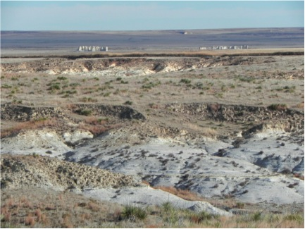 Fossil Beds Where Xiphactinus Was Discovered in Cook Canyon, Gove County, Kansas.