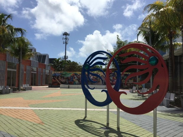 The Little Haiti Cultural Center is a hub for art, music, dance and culture.