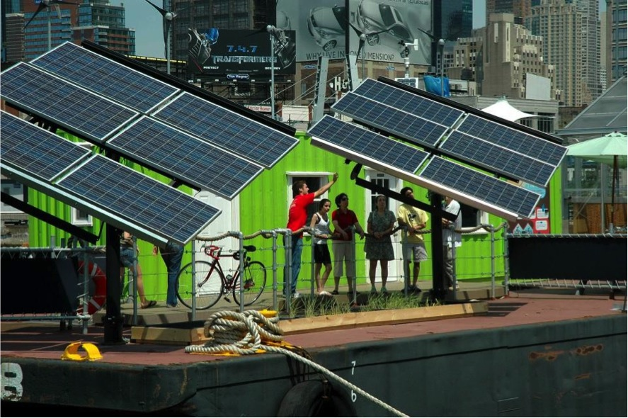 The Miami Science Barge will, like it's New York counterpart, be powered with solar energy. Wind and biofuels will also power the barge.