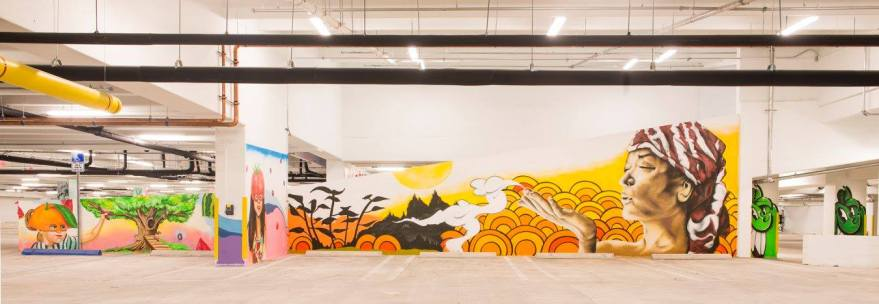 Ofir and YO Miami helped curate an all-star lineup of Miami artists — including Trek 6, Kazilla, Luis Berros, Nate Dee, Monz, Rei Ramirez, Jenny Perez, Jorge Rodriguez, Atomik, Yuhmi Collective, and Noah Levy — for the murals at the downtown Whole Foods. (Courtesy of YO Miami)