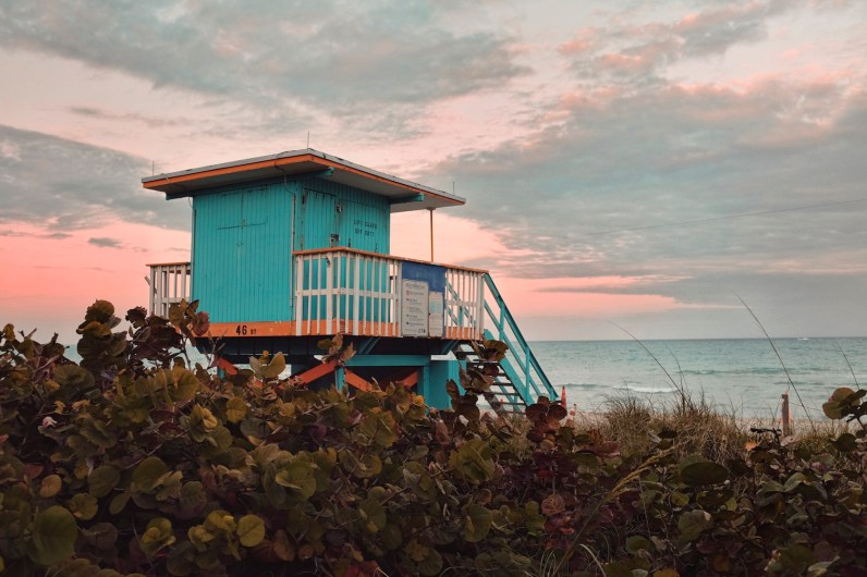 """46th Street: """"This is another stand that I got before it was repainted. I like how this photo shows what it feels like to come onto the beach when you're not a tourist, because this is where we go."""" (Sean R. Sullivan, seanwashere.com)"""