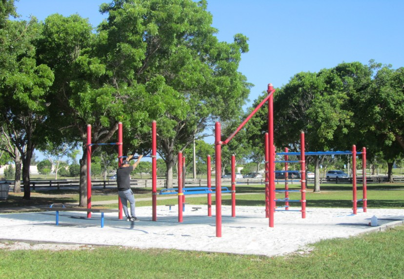 Tropical Park offers workout equipment for community members to enjoy. Photo by Ashley Martinez
