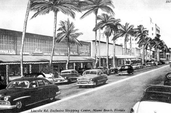 Lincoln Road in the 1950s