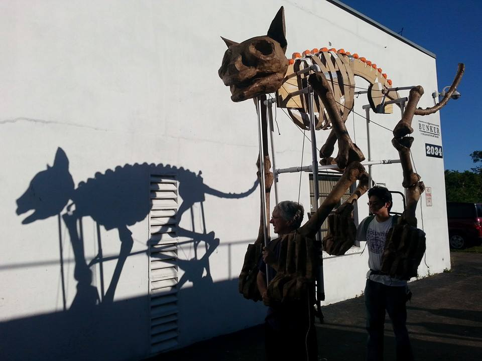 A skeleton made by one of the attendees in the parade. (Courtesy of South Florida Day of the Dead Celebration)
