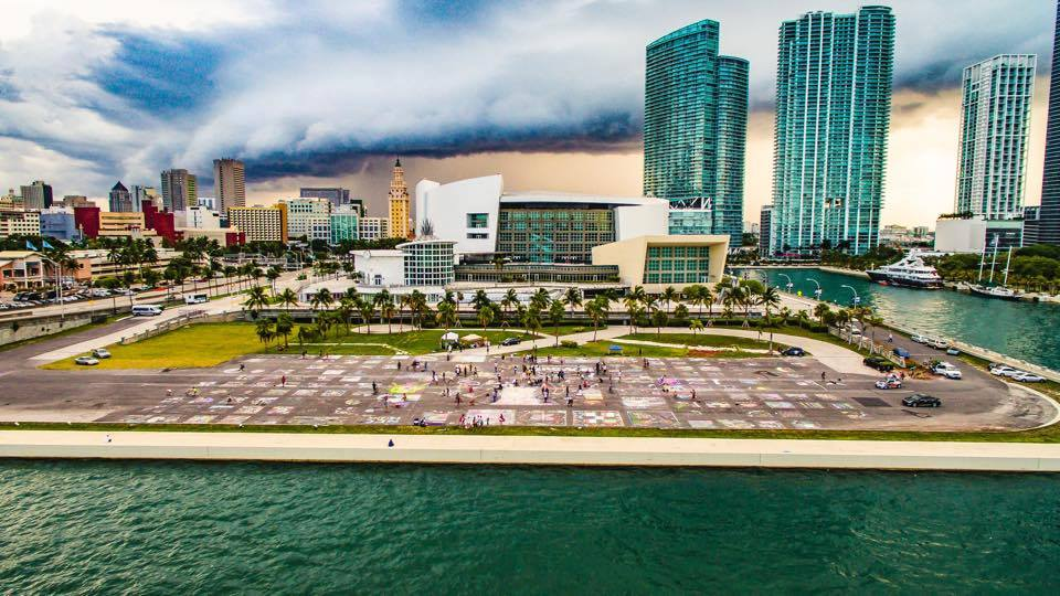 The end result of Engage Miami's Dan Paul Park protest. (Courtesy of Mandiola Design