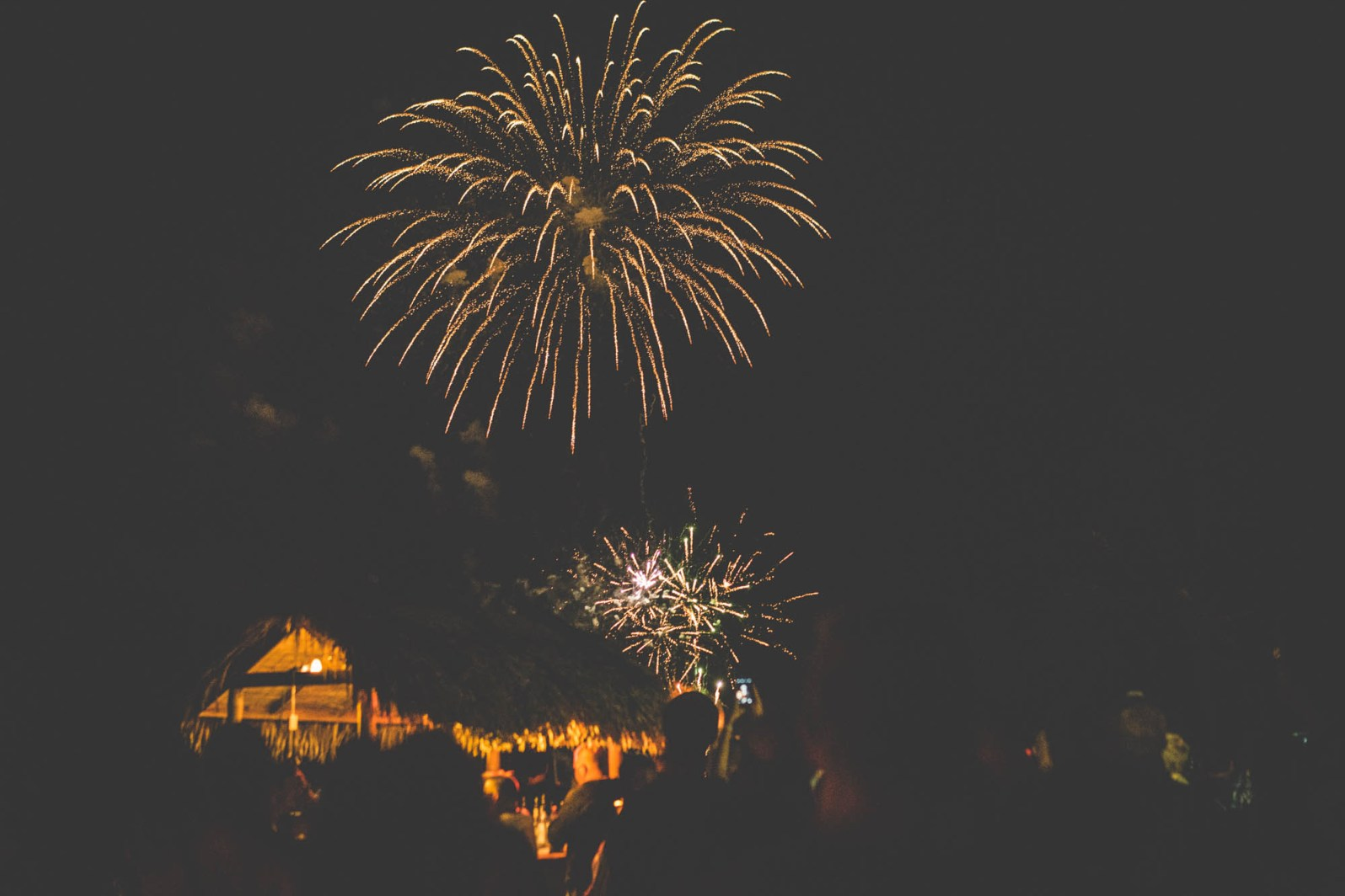 Fireworks - the recommended way to end a road trip.