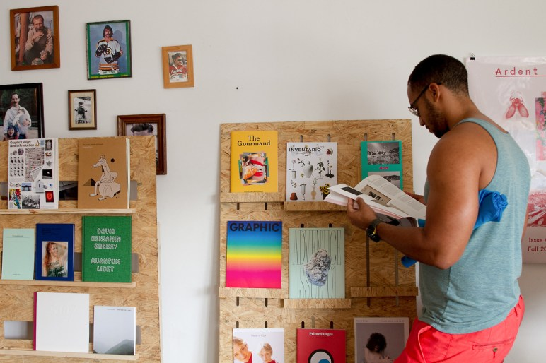 A 16-page zine and a zine vending machine. (Courtesy of The Awesome Foundation)