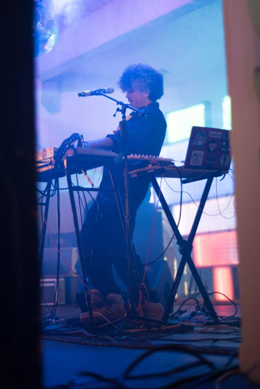 Smurphio mixing at the North Beach Bandshell album launch. (Courtesy of Oscar Robayna)