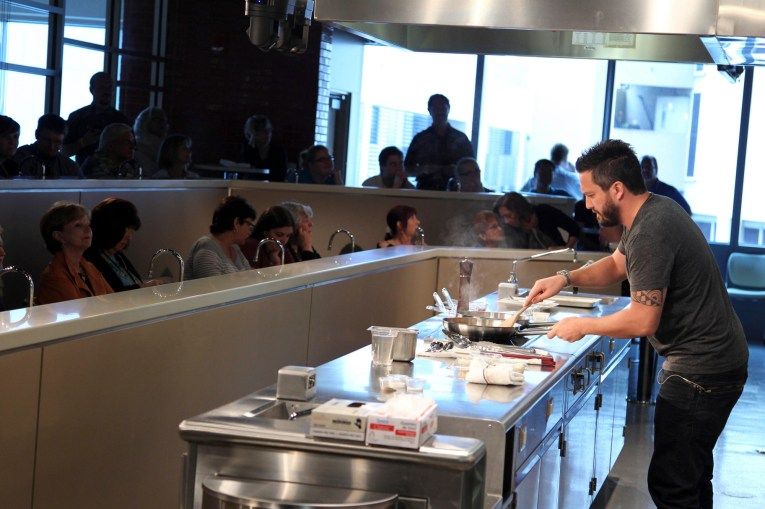 Fabio Viviani on Fabio's American Home Kitchen during the 2014 Miami Book Fair. (Courtesy of Miami Book Fair)