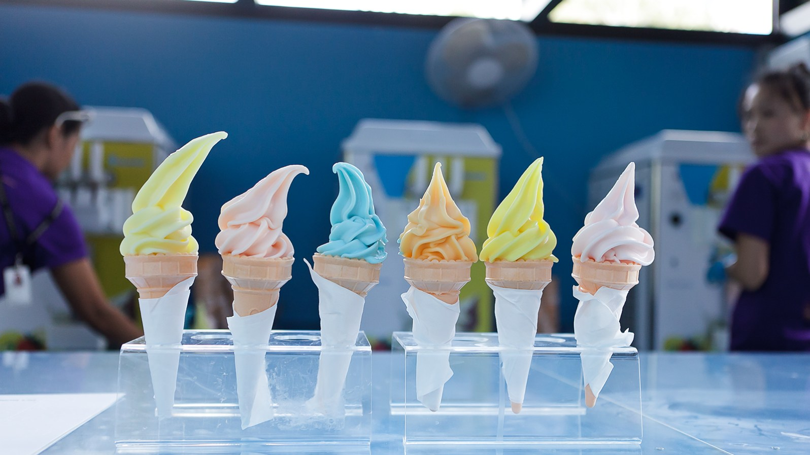 Spencer Finch's sunset ice creams. (Courtesy of Spencer Finch)