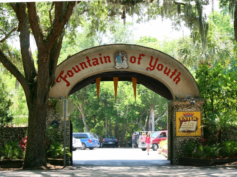Fountain of Youth in St. Augustine. (Courtesy of Chuck Coker/Flickr Creative Commons)