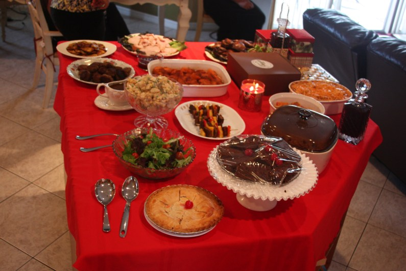 Christmas dinner in a Jamaican household. (Courtesy of Dujon Edwards)