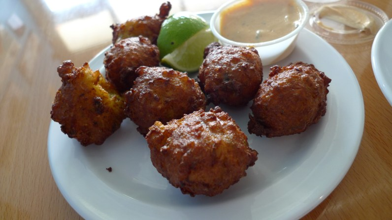 Conch fritters from La Camaronera. (Courtesy of Ron Dollete/Flickr Commons)