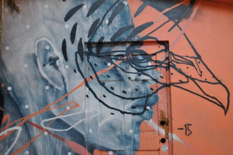 A piece on the exterior wall by t_w_o_o_n_e.