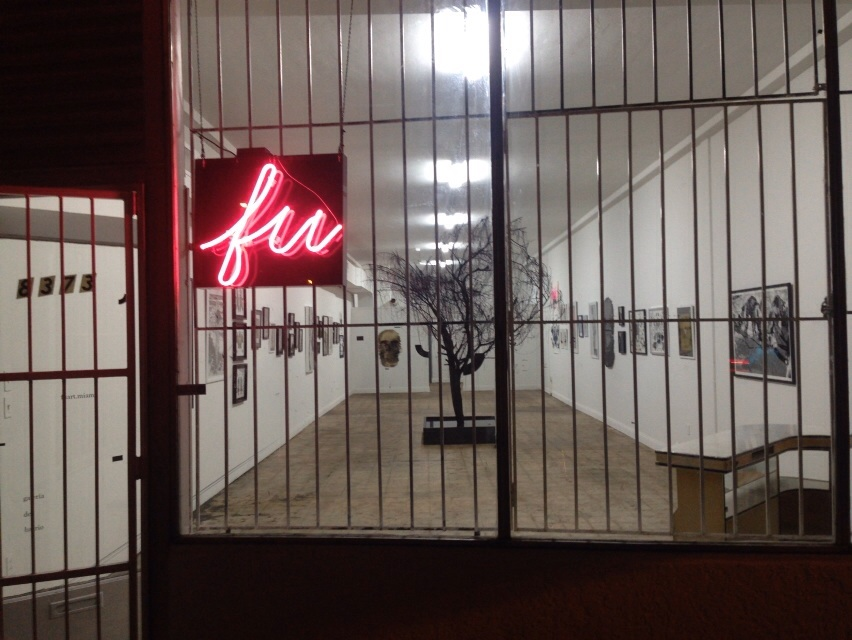 The exterior view of FU gallery in Little Haiti. (Courtesy of FU gallery)