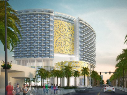 Renderings of the Convention Center hotel (Courtesy of John Portman and Associates)