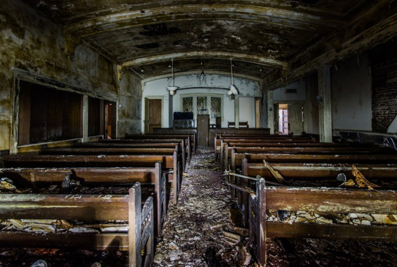 A chapel in an abandoned funeral home in Jacksonville. (Courtesy of David Bulit)