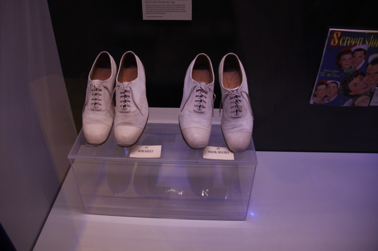 Shoes worn by Grace Kelly and Frank Sinatra