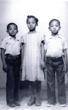 Edwidge Danticat with her siblings. (Courtesy of the Danticat family)