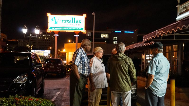 Locals gather at Cafe Versailles (Credit: Mario Restrepo)