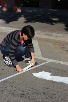 Making a crosswalk (Courtesy of Urban Impact Lab)