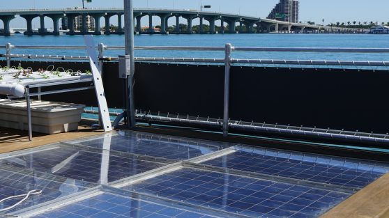 Solar Panels on the Miami Science Barge (Credit: Roshan Nebhrajani/The New Tropic)